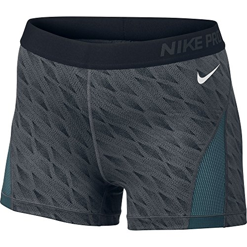 Women's Nike Pro Hypercool Short Dark Grey/Black/White Size Large