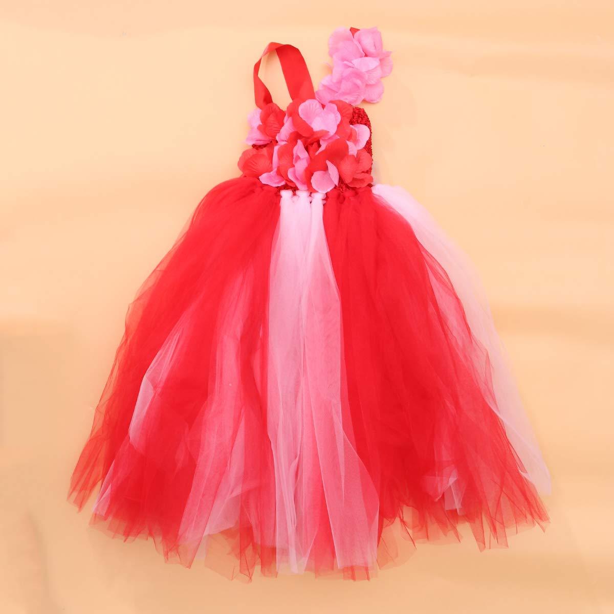 LUOEM Disfraz de Princesa de Hadas para ni/ñas con Vestido de Princesa Disfraz de Princesa de Arco Iris para Disfraces de tut/ú para ni/ñas Disfraz de Cumple con Halloween para Fiestas de cumplea/ños 5Y