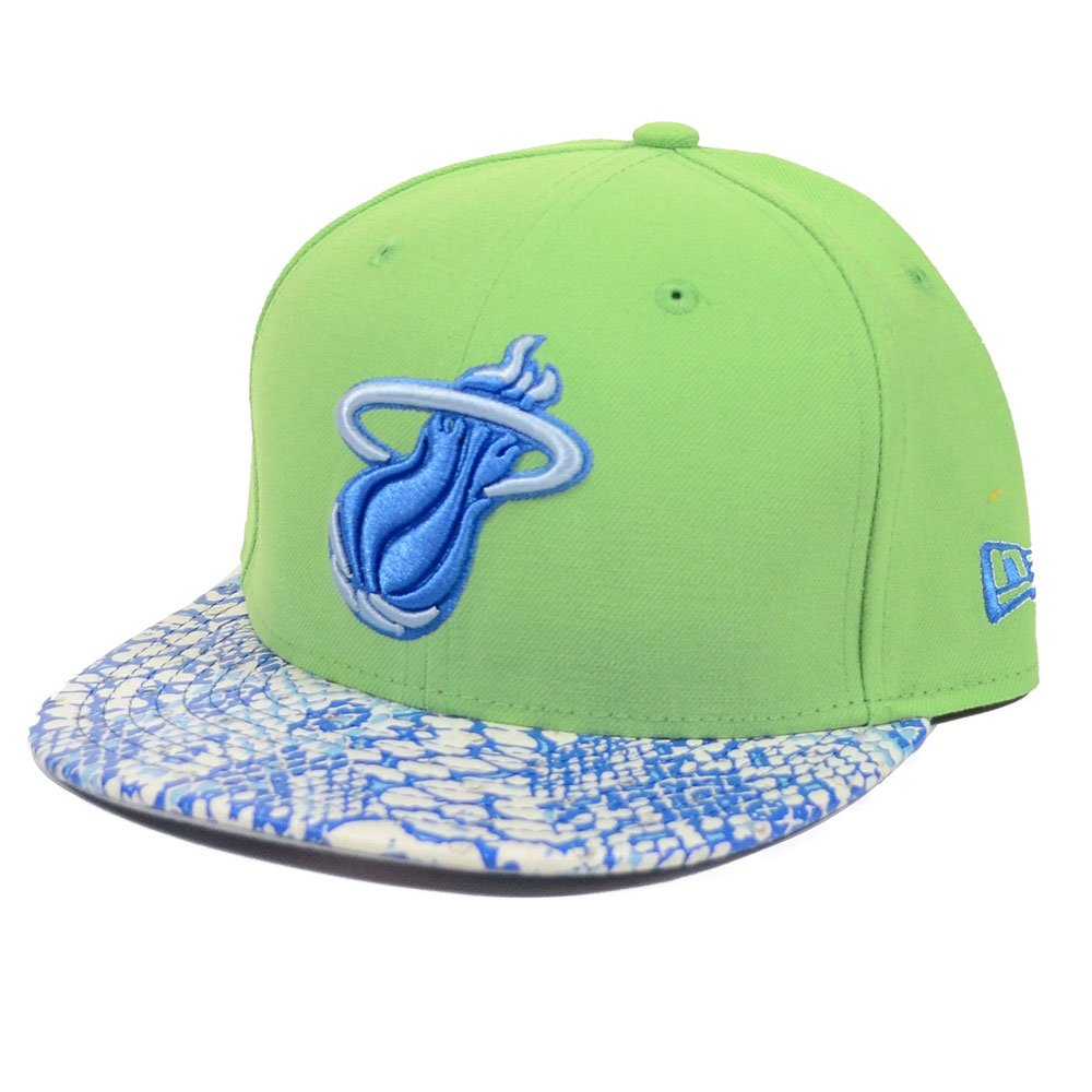 Miami Heat New Era Ostrich Visor Snake Printストラップバック帽子   B00H90SV1O