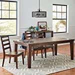"Amazon Brand – Stone & Beam Dunbar Wood Dining Room Kitchen Table, 78""L, Oak Finish"