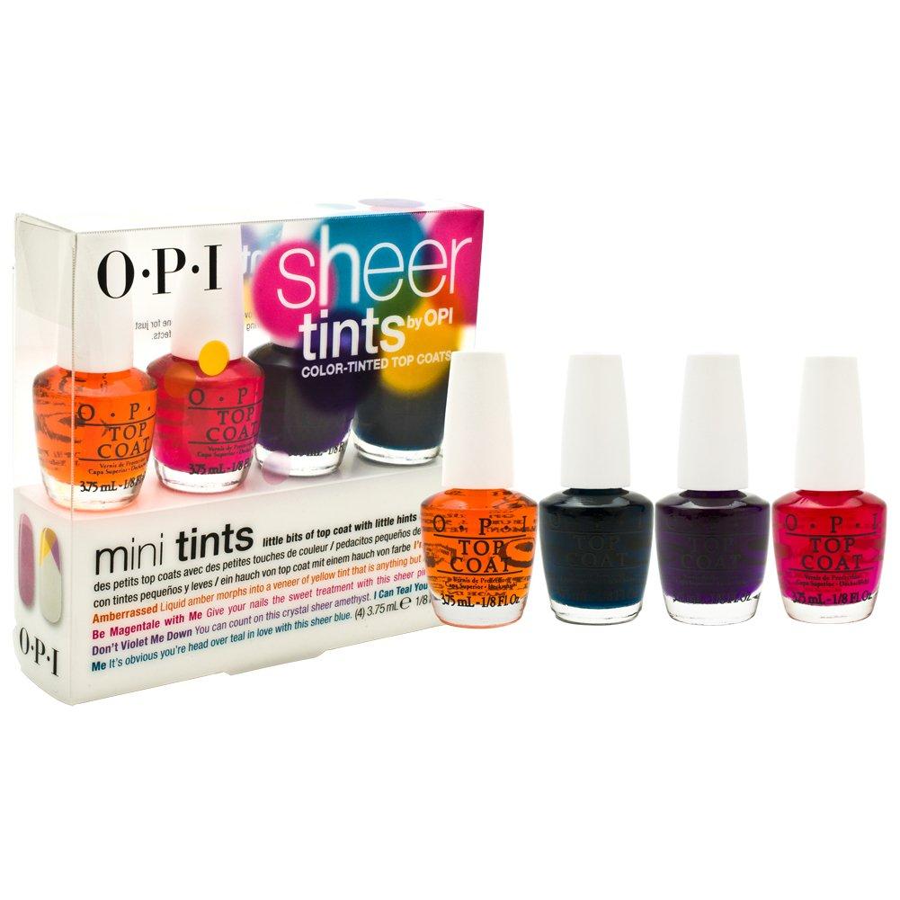 OPI Polish Kit Sheer Tints Top Coats Nail Polish: Amazon.co.uk: Beauty
