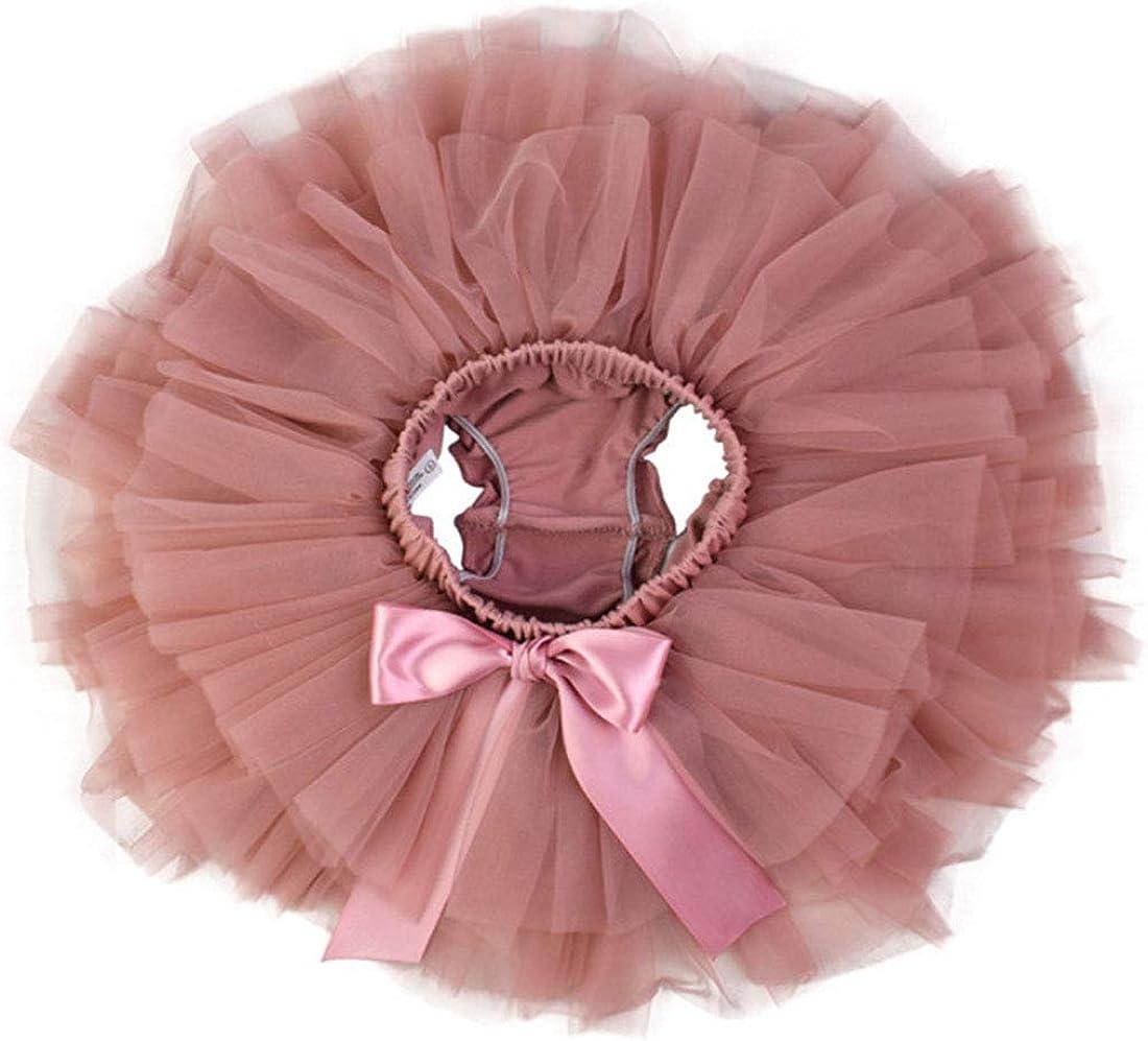 Stirnband Pink, Gr/ö/ßen M f/ür 6-12 Monate YONKINY Baby M/ädchen Tutu Rock Prinzessin T/üllrock Minirock Baby Fotoprops Reifrock Ballettrock f/ür Fotografie Geburtstag