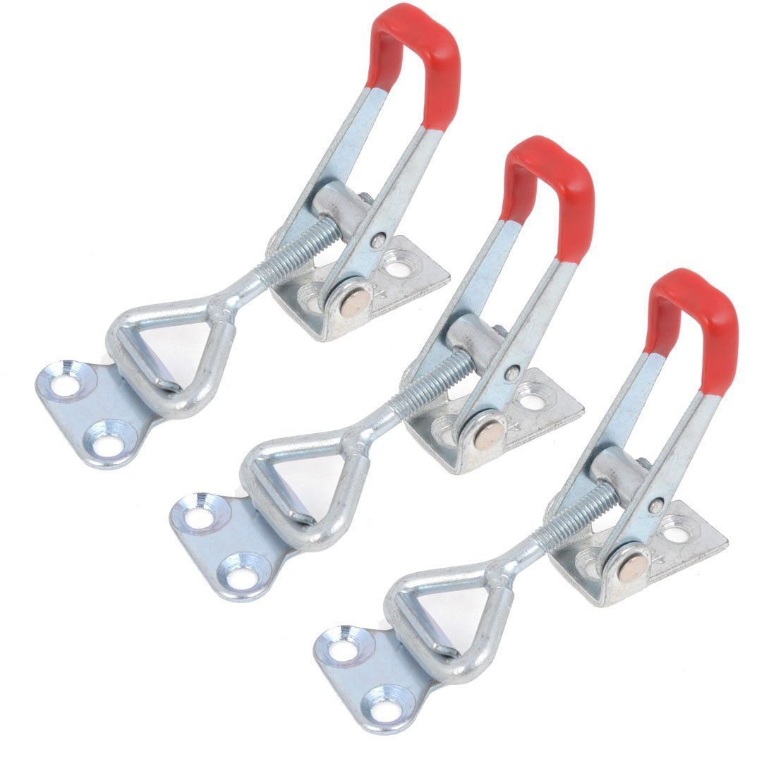 Pince a bascule - SODIAL(R) 4001 100 kg 220lbs capacite de retention bouton de verrouillage de porte pince a bascule 3 pcs