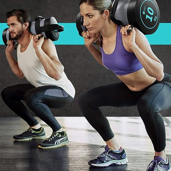 HECHEN Mancuerna Mujer-Hombres Fitness Inicio 5-20Kg Brazo De Entrenamiento Muscular Sentadillas Equipo Entrenamiento Energía Paquete: Amazon.es: Deportes y ...