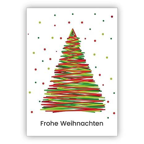 Disegni Alberelli Di Natale.Moderno Disegno Cartolina Di Natale Con Albero Di Natale