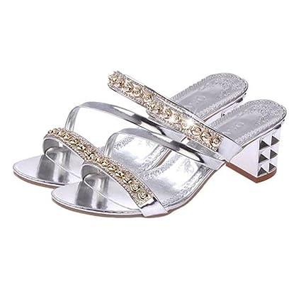 LVZAIXI Zapatos Zapatillas de mujer Zapatillas de mujer de moda Zapatillas de mujer de verano grueso ...