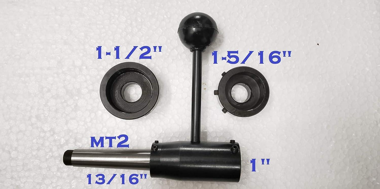 "1/"",1-5//16/"",1-1//2/"" Lathe Tailstock Die Holder Set Floating Type MT2 SHANK 13//16/"""