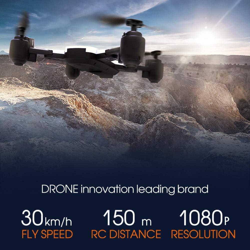 Kingko® WIFI 720 FPV 18min Flugzeit GPS Flow Me Me Me Faltbarer Selfie Drohne RC Quadcopter GPS-Standort R/C Abstand: ungefähr 150m 4-Kanäle Kanal 6-Achsen Achse (schwarz) a89645