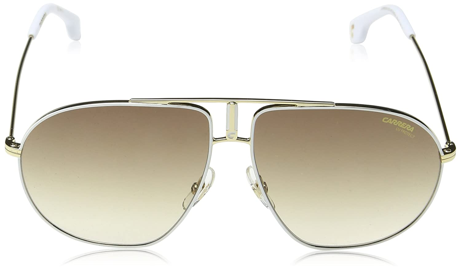 4df201ee418 Amazon.com  Carrera Bound Aviator Sunglasses WHITE GOLD 60 mm  Clothing