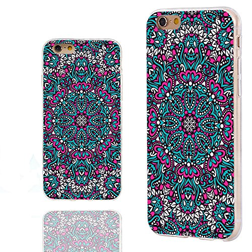 iPhone 6 plus Case, iphone 6 5.5 case,iphone6 plus case ,ChiChiC full Protective unique Stylish Case slim durable Soft TPU Cases Cover for iPhone 6 5.5 inch iphone 6+,geometric pink ocean arabesque pattern mandala floral