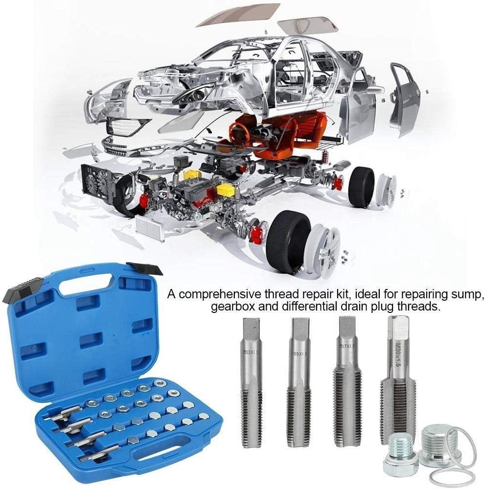 64pcs Aluminium Sump /Ölwanne Gewindereparatur-Getriebe Ablassschraube Tool Kit Wartung Zubeh/ör KSTE /Ölwanne Gewindereparatur