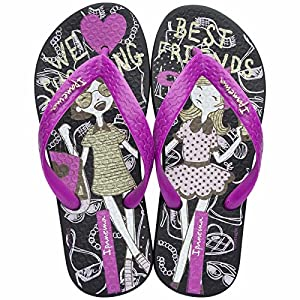 Ipanema Best Friends Kids Flip Flops / Sandals-Black-11/12