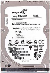 Seagate 500GB Gaming SSHD SATA 8GB NAND SATA 6Gb/s 2.5-Inch Internal Bare Drive (ST500LM000) (Renewed)