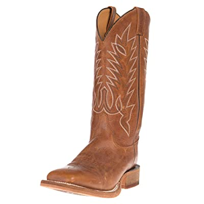 Justin Boots Company Mens Bent Rail Brentwood 13 inch Top Square Toe Cowboy Boot 11 D Brown: Sports & Outdoors
