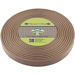 Country Brook Design | Polypropylene Webbing (1 Inch) (Beige, 25 Yards)