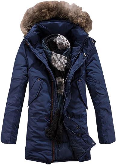 CHENGYANG Homme Veste et Manteau avec Capuche Fourrure d