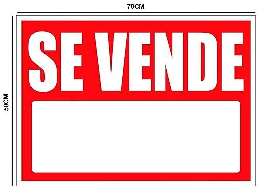 Oedim Cartel en Vinilo de Se Vende 50x70cm | Señaletica Adhesiva Duradera y Económica | Ideal para Vender Propiedades