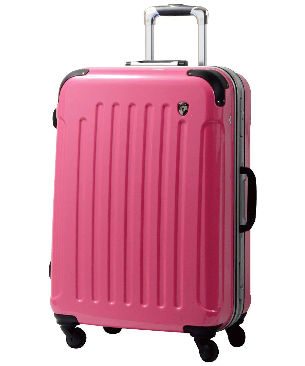 [グリフィンランド]_Griffinland TSAロック搭載 スーツケース 軽量 アルミフレーム ミラー加工 newPC7000 フレーム開閉式 B0060R9FI0 S(小)型|バーニングピンク バーニングピンク S(小)型