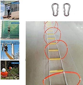 Escalera De Evacuación De Seguridad Contra Incendios De Emergencia Ignífuga Incendios,Rodeado De Cerrado Escalera Plegable Cuerda De Cuerda De Alambre Escape De Emergencia Combate Contra Incendios,30M: Amazon.es: Deportes y aire libre