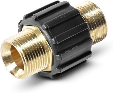 Wasserschlauch Kupplung Verbinder  Hochdruck M22 mit 1//2 Zoll Gewinde