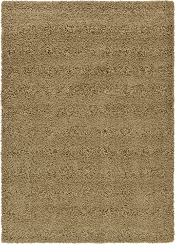 Cozy Shag Collection Beige Solid Shag Rug (9' x 12') Contemporary Living and (Cozy Beige Shag Rug)