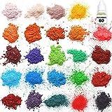 Mica powder – Soap Making Kit – Powdered Pigments Set – Soap making dye – 24 coloring - Hand Soap Making Supplies - Resin Dye - Mica Powder Organic for Soap Molds - Bath Bomb Dye Colorant – Makeup Dye