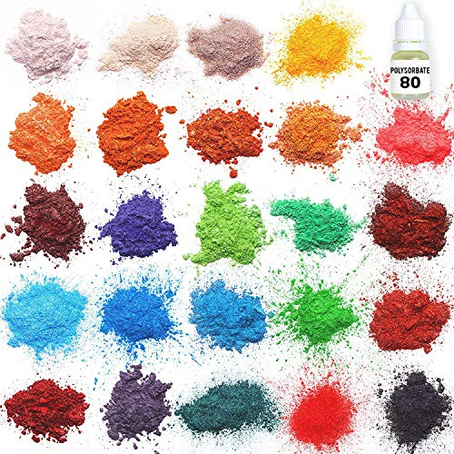 Mica powder – Soap Making Kit – Powdered Pigments Set – Soap making dye – 24 coloring - Hand Soap Making Supplies - Resin Dye - Mica Powder Organic for Soap Molds - Bath Bomb Dye Colorant – Makeup Dye