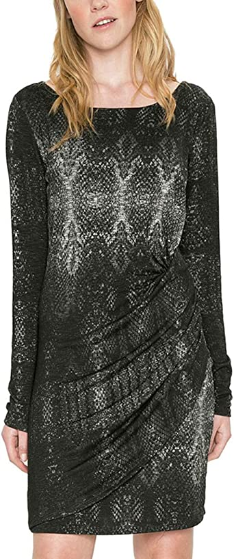 TALLA M. Desigual Vest_Bonnie Vestido para Mujer Negro (Negro 2000)