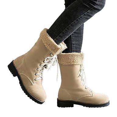 83d3050108c28 Amazon.com: Memela Women's Suede Boots Snow Boots Military Ankle ...