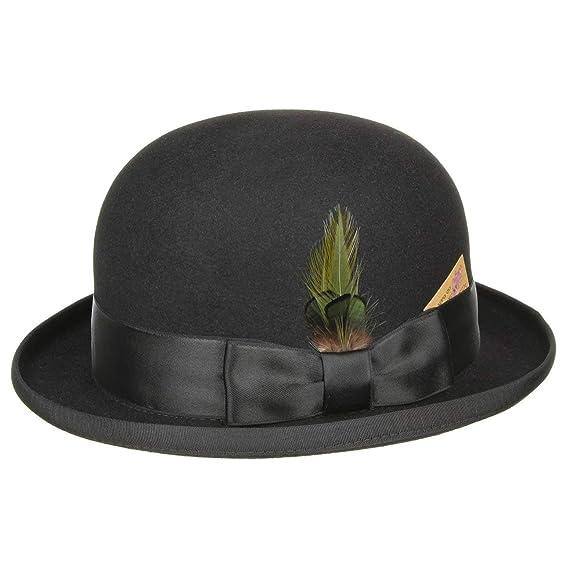 7496d8869e969 Stetson Ennio Bowler Hat wool felt (59 cm - black)  Amazon.co.uk  Clothing