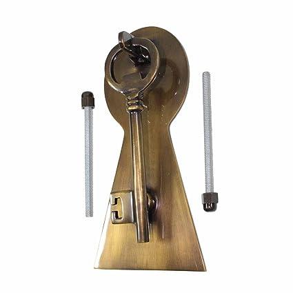 Ordinaire Door Knockers Antique Brass Key Door Knocker 6 H X 3 1/2 W