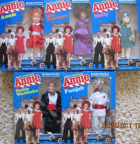 LITTLE ORPHAN ANNIE Doll SET of 5 The WORLD of ANNIE DOLLS 6