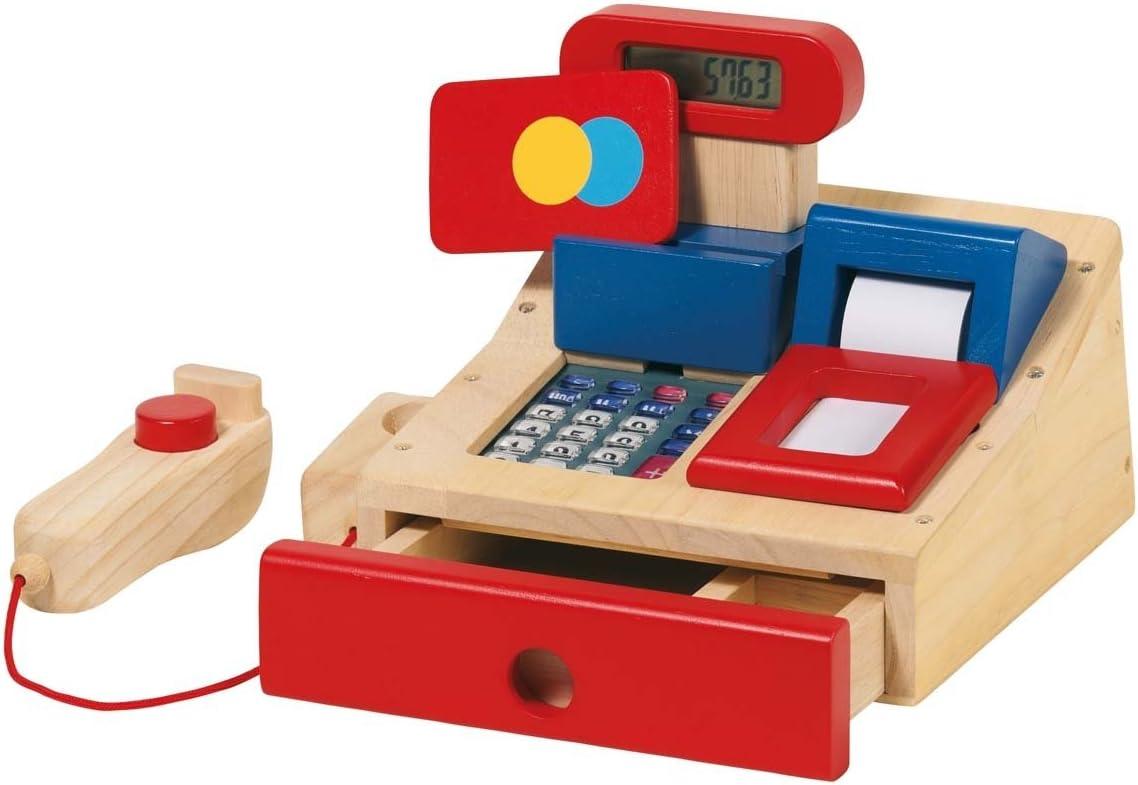 Goki 51807 - Caja registradora de Madera con escáner [Importado de ...