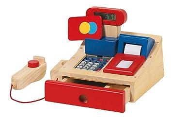 Goki 51807 - Caja registradora de madera con escáner [importado de Alemania]