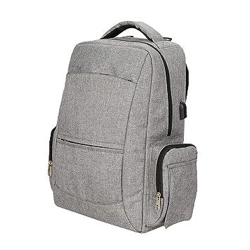 316c5080e240 B Baosity Anti Theft Smart School College Travel Backpack Safe Bag USB  Charging Laptop - Gray