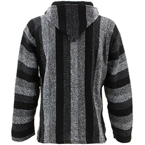 Chaqueta con capucha, tonos grises, hippie, parte superior