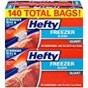 140-Count Hefty Quart-Size Slider Freezer Bags