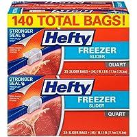 140-Count Hefty Quart-Size Slider Freezer Bags