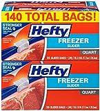 Amazon Price History for:Hefty Slider Freezer Bags (Quart, 140 Count)