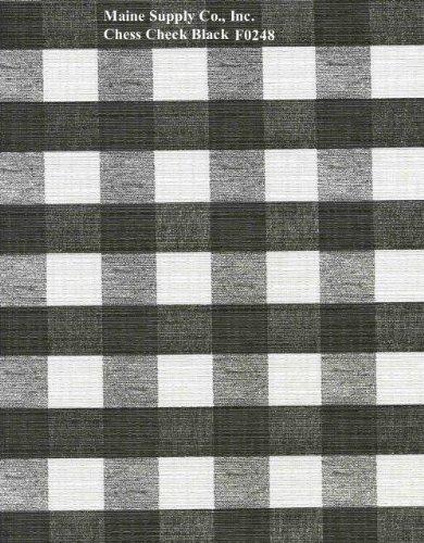 Black Chess Check Series F0248 Vinyl Tablecloth 54