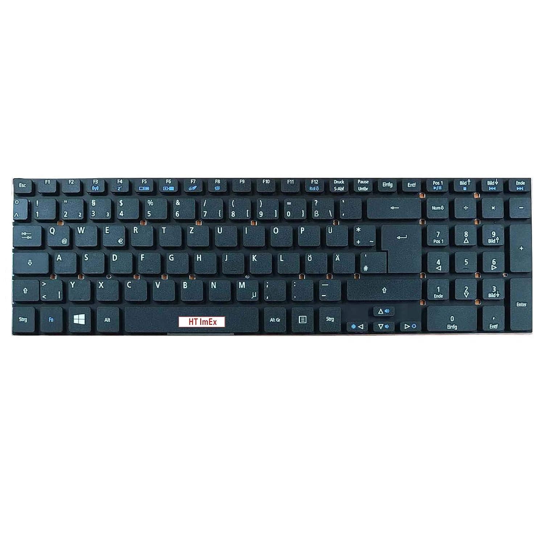 ohne Rahmen QWERTZ VA70 - Farbe: Schwarz ohne Hintergrundbeleuchtung Deutsches Tastaturlayout Version 1 kompatibel f/ür Acer Aspire Q5WV1 Original Tastatur Z5WE3