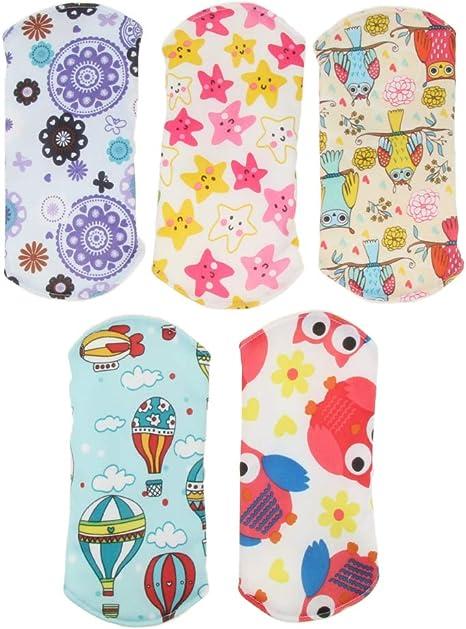 chiwanji 5pcs 7 pulgadas Paño de Bambú Lavable Almohadillas de Menstrual Compresa Protegen Accesorios de Algodón Sanitario - Bambú, 7.09x7.09 pulgadas: Amazon.es: Bebé