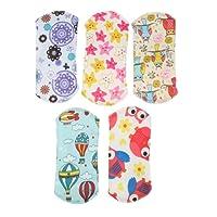 Baosity 5 Unds Pañales De Tela Toalla Higiénico para Mujeres Sanitary De Multicolor