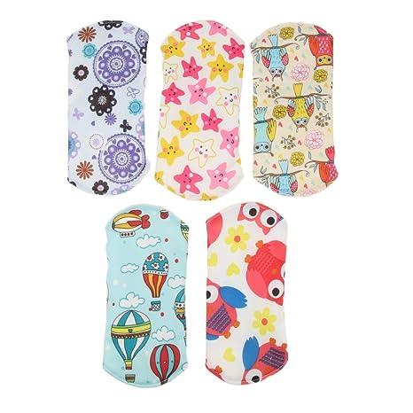 F Fityle 5 piezas Almohadillas Menstruales de Tela Impermeable para Mujeres - Bambú, 7.09x7