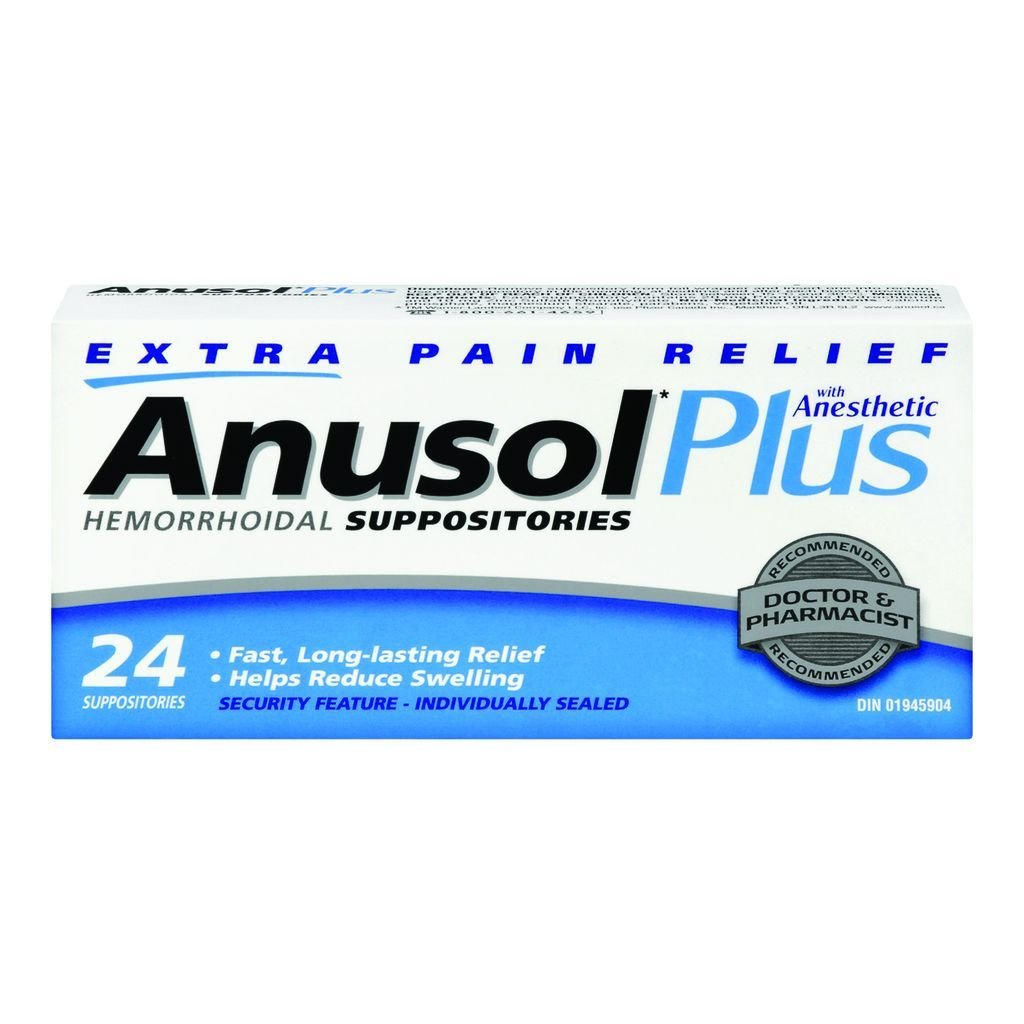 ANUSOL PLUS 24 Hemorrhoidal SUPPOSITORIES by Anusol
