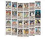 DZHJKIO One Piece Wanted Posters 11.22 x 7.68 x