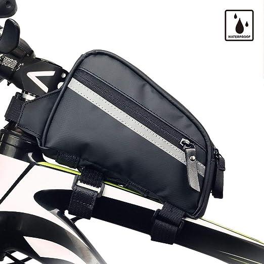 Bolsa de bicicleta Bolsa de tubo superior de bicicleta Bolsa de cuadro de bicicleta Bolsa de cuadro de bicicleta impermeable y estable Bolsa de bicicleta Accesorios de ciclismo profesional,Matte: Amazon.es: Hogar
