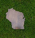 Rustic Wisconsin State Wooden Gallery Wall Art Cutout Office College Dorm Home Bedroom Decor