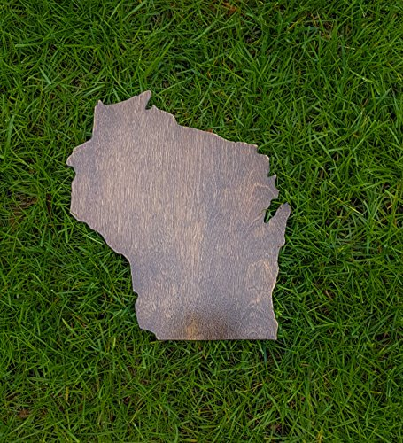 Rustic Wisconsin State Wooden Gallery Wall Art Cutout Office College Dorm Home Bedroom Decor by Natural Accents HD (Image #6)