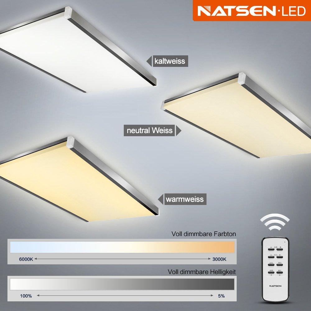 Natsen® LED Deckenlampe Wandlampe I502Y 100W warmweiß kaltweiß ...